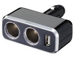 Разветвитель на 2 гнезда + USB FIZZ-849