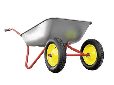 Тачка садовая РемоКолор двухколесная, грузоподъемность 90 кг, объем 65 л