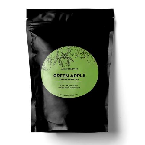 AIVA GREEN APPLE\твердый шампунь\упаковка эконом, 50 гр