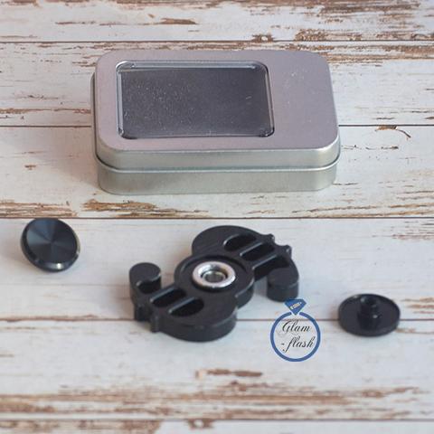 Спиннер из латуни в форме доллара черного цвета 17006L_black