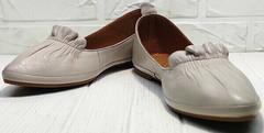 Стильные балетки туфли без каблука с острым носом Wollen G036-1-1545-297 Vision.