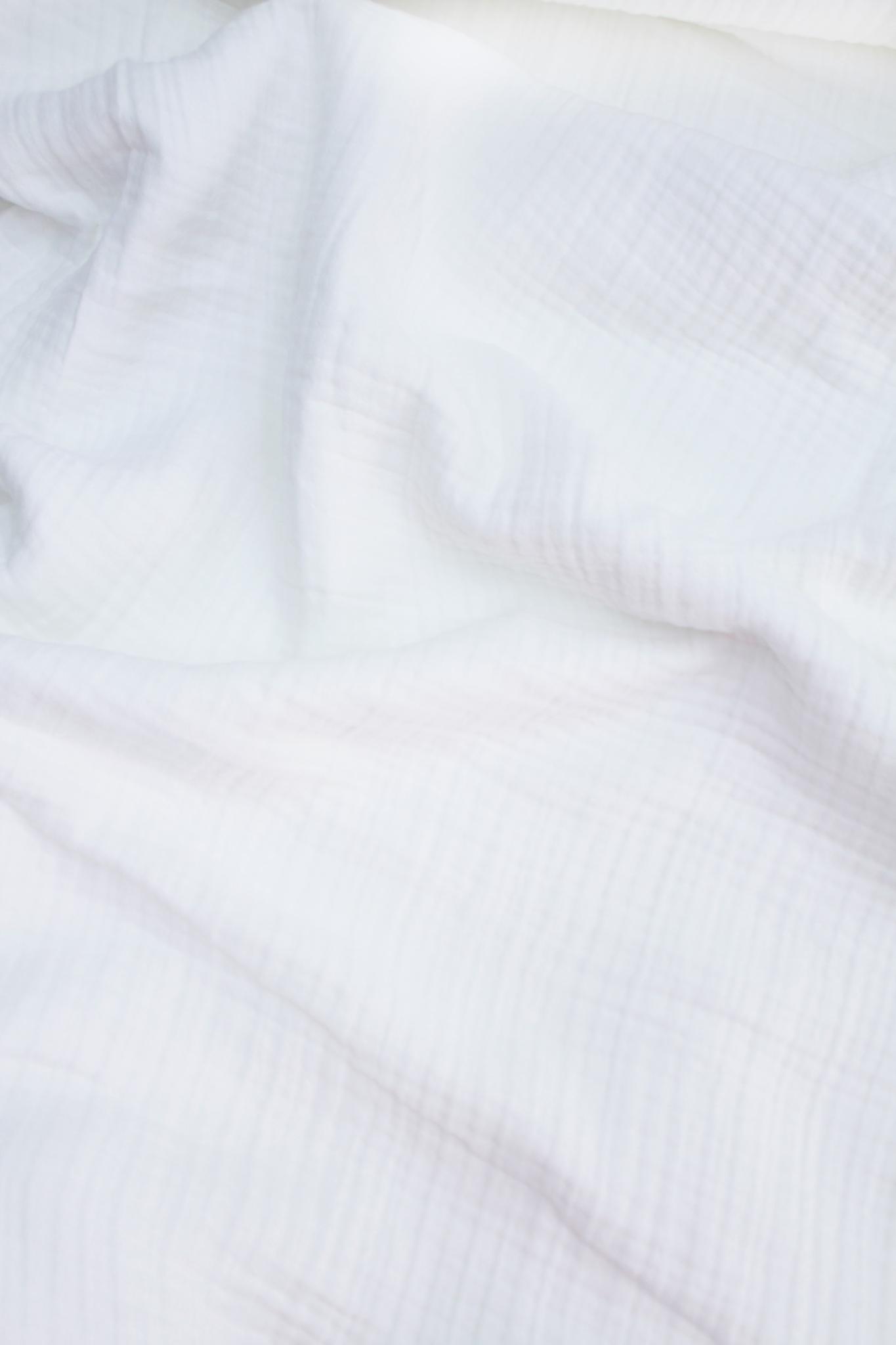 Ткань муслиновая, 4 слоя, белый, ширина 240см