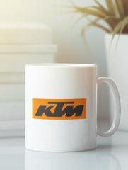 Кружка с рисунком KTM (KTM AG) белая 004