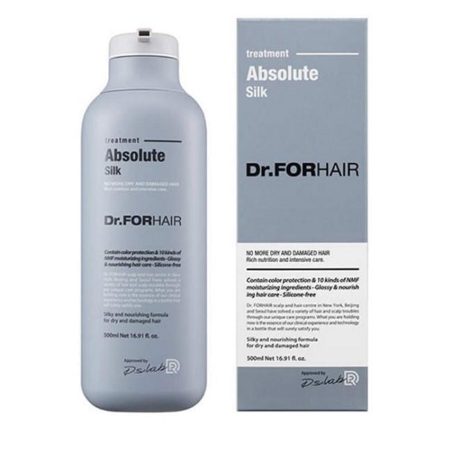 Маска-кондиционер для гладкости волос Dr.FOR HAIR Absolute Silk Treatment 500 мл