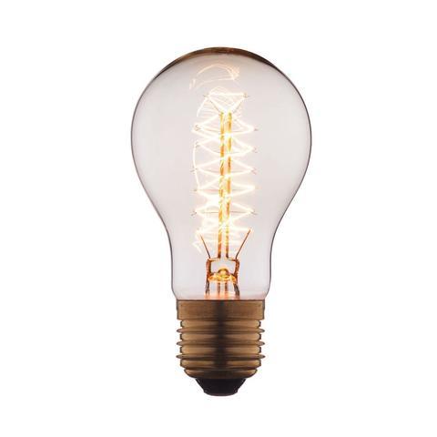 Лампа накаливания E27 60W груша прозрачная 1004