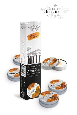 Набор из 5 свечей Petits Joujoux Athens с ароматом муската и пачули
