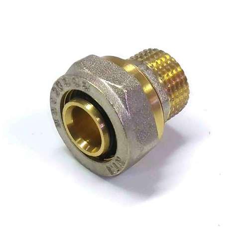 Муфта обжимная для металлопластиковых труб 20х1/2 наружная резьба Valve
