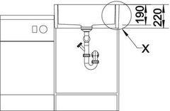 Мойка кухонная Blanco Panor 60 - вид спереди