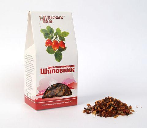 Чай моносостав Шиповник, 50гр (Стевия)