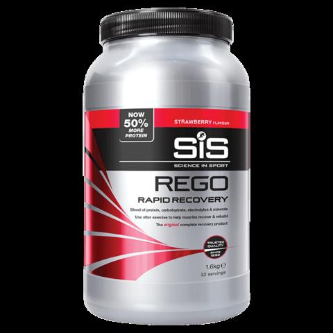 SiS Rego Напиток восстановительный углеводно-белковый в порошке, вкус Клубника, 1,6 кг