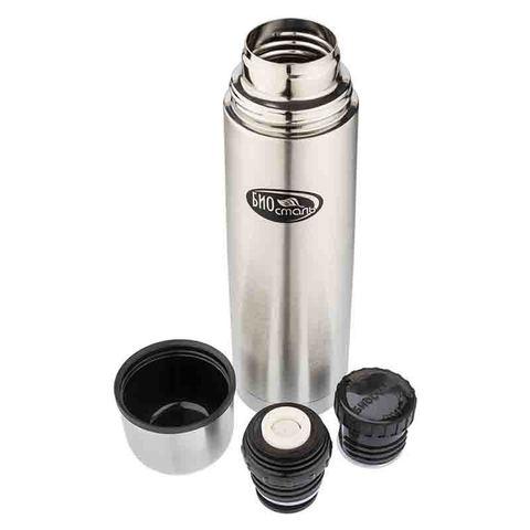 Термос Biostal (1 литр), 2 пробки, стальной
