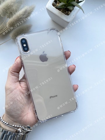 Чехол iPhone  XS Max Simple angle silicone /transparent/ 443