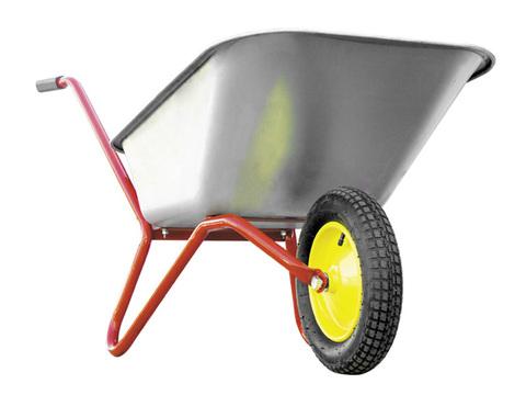 Тачка садовая РемоКолор одноколесная, грузоподъемность 100 кг, объем 80 л