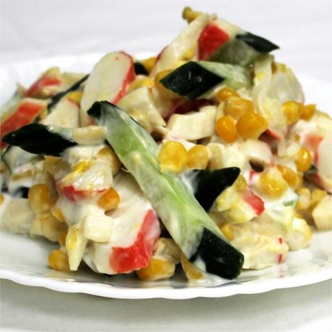 Салат с крабовыми палочками 1 кг