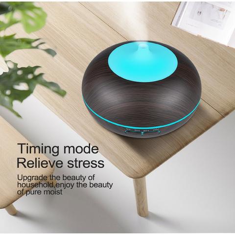 Увлажнитель аромадиффузор воздуха  для дома (Темное дерево)