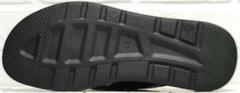 Модные мужские шлепанцы сандали на плоской подошве Brionis 155LB-7286 Leather Black.