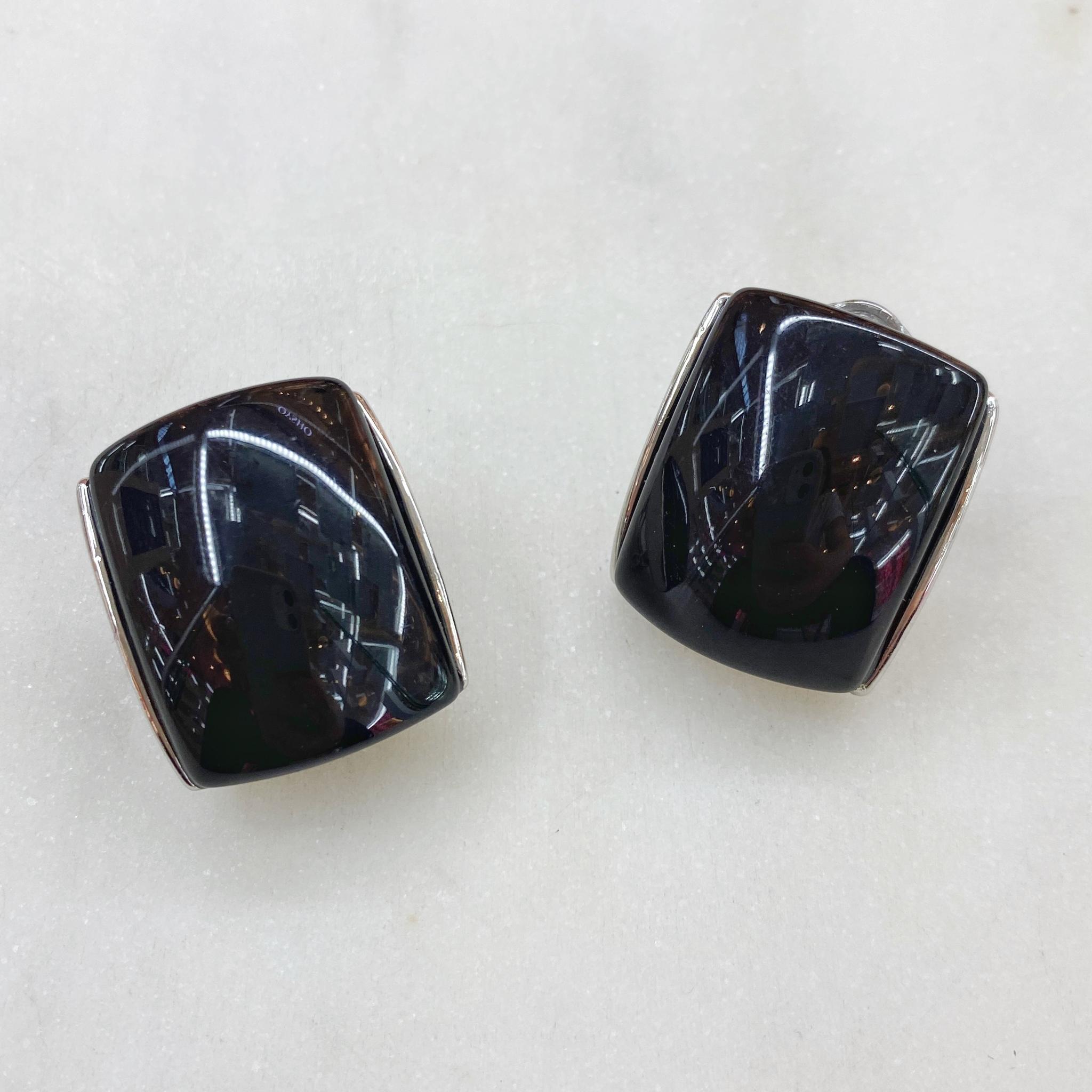 Серьги-кластеры акрил (черный)