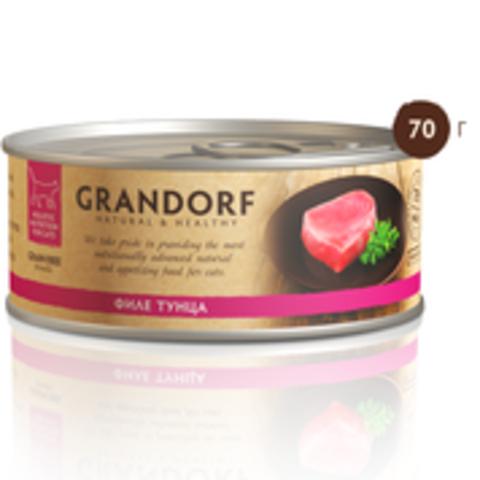 Grandorf филе тунца в собственном соку 70г
