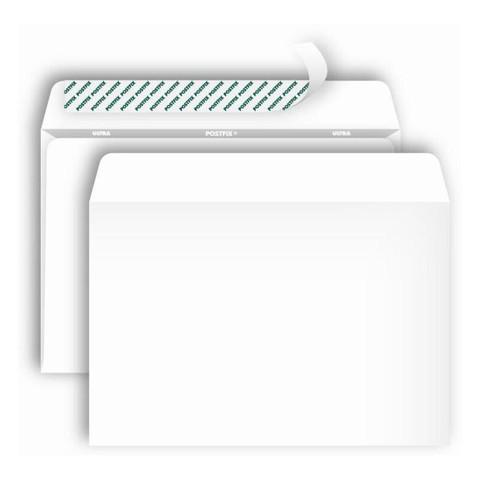 Конверт Postfix Bong С5 80 г/кв.м белый стрип с внутренней запечаткой (1000 штук в упаковке)