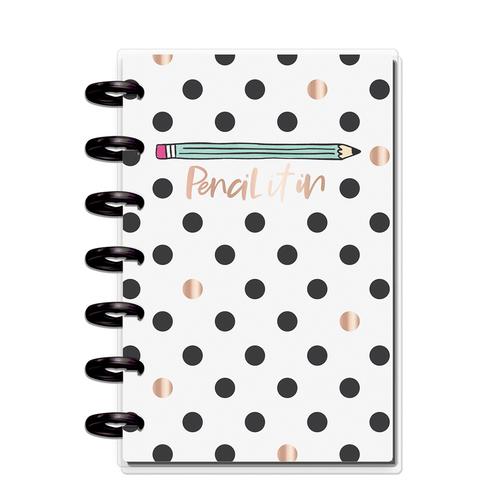 Блокнот в точку с доп украшениями Happy Planner Mini Happy Notes Kit - Pencil It In Student