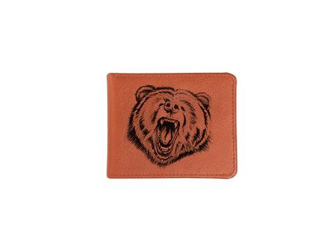 """Купюрница """"Оскал медведя"""", рыжая"""