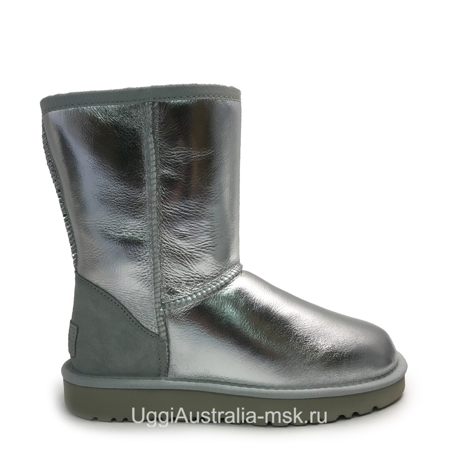 UGG Classic Short Silver
