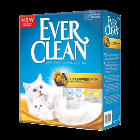 Ever Clean LitterFree Paws Наполнитель для туалета кошек, для идеально чистых лап комкующийся (желтая полоска)