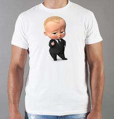 Футболка с принтом мультфильма Босс-молокосос (The Boss Baby) белая 005