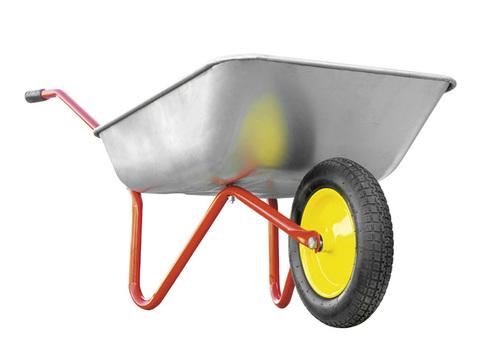 Тачка садовая РемоКолор одноколесная, грузоподъемность 80 кг, объем 65 л