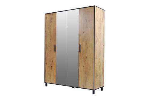Лофт Шкаф 4-х створчатый