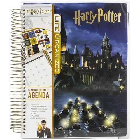 Ежедневник с украшениями - Paper House Life Organized 12-Month Undated Planner -Harry Potter Hogwarts At Night