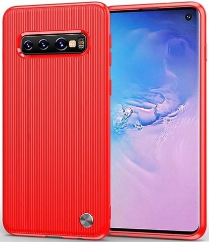 Чехол для Samsung Galaxy S 10 цвет Red (красный), серия Bevel от Caseport