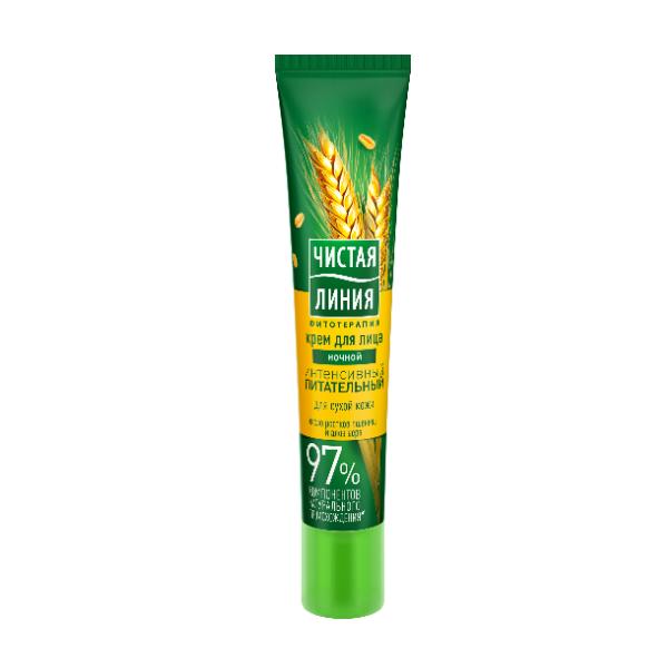 Ночной крем для лица Чистая линия, интенсивный питательный, для сухой кожи, 40 мл - купить по выгодной цене | А44 Market