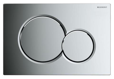 Geberit Sigma 01 115.770.21.5 кнопка для инсталляции унитаза (двойной смыв, глянцевый хром)