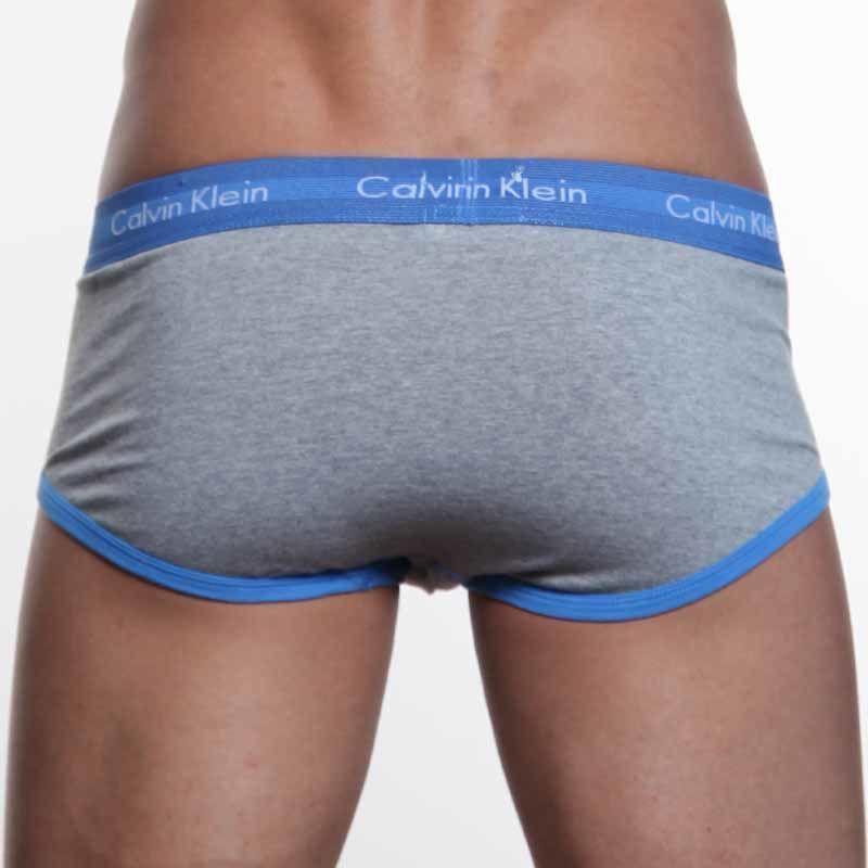 Мужские трусы брифы серые Calvin Klein 365 Grey Blue Brief