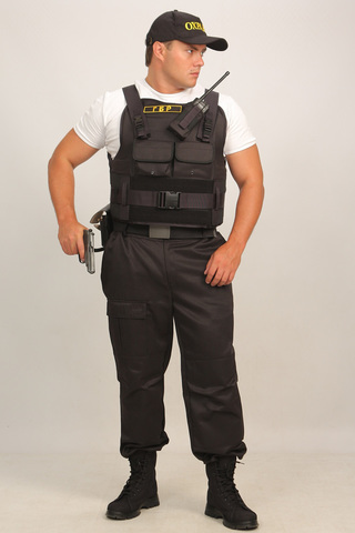 Бронежилет Комфорт 1-1 УНИ чехол Охранник (тканевая бронепанель), Бр1 класс защиты