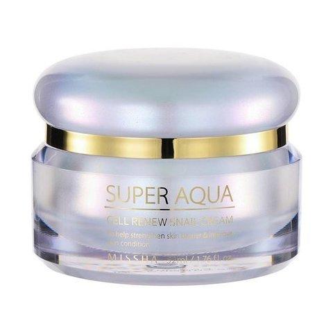 Missha Super Aqua Cell Renew Snail Cream регенерирующий крем для лица с муцином улитки