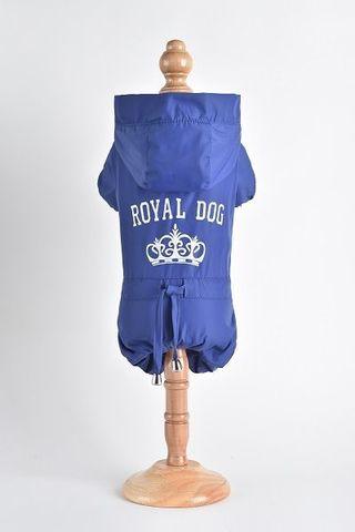 Royal Dog Дождевик флисовый с надписью синий размер S
