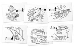 Раскраска-игра (мини). English. Сочетания гласных букв