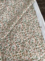 Вискоза штапель Бежевые цветочки