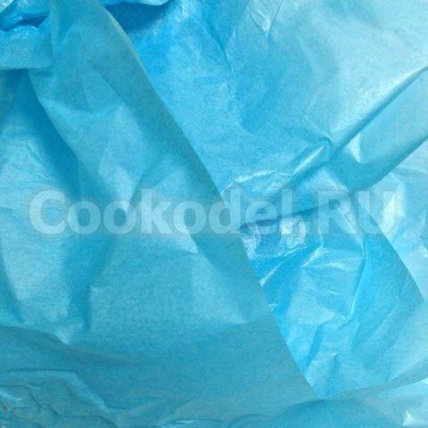 Бумага тишью Голубая 10 листов