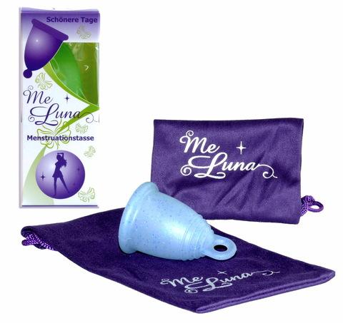 Менструальная чаша MeLuna Soft (L) - прозрачная с блестками