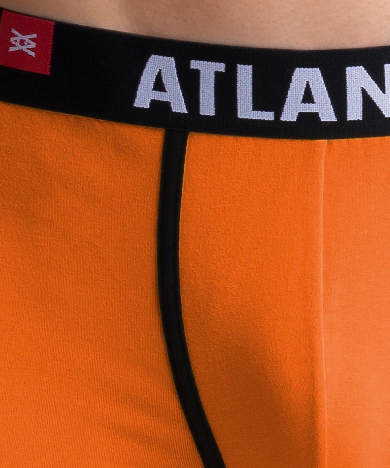 Мужские трусы шорты Atlantic, набор из 3 шт., хлопок, желтые + фиолетовые + бирюзовые, 3SMH-002