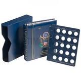 Альбом VISTA для 25 центов US-Quarter 1999-2008 гг с шубером, с листами, синий