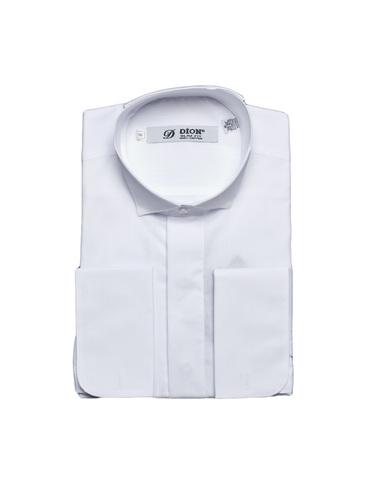 Сорочка Dion под бабочку белая приталенная на высокий рост