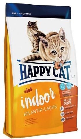 купить Happy Cat Supreme Adult Indoor Atlantik-lachs сухой корм для домашних кошек с атлантическим лососем