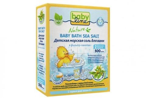Морская соль детская с ромашкой для ванн Babyline Nature (500 гр)