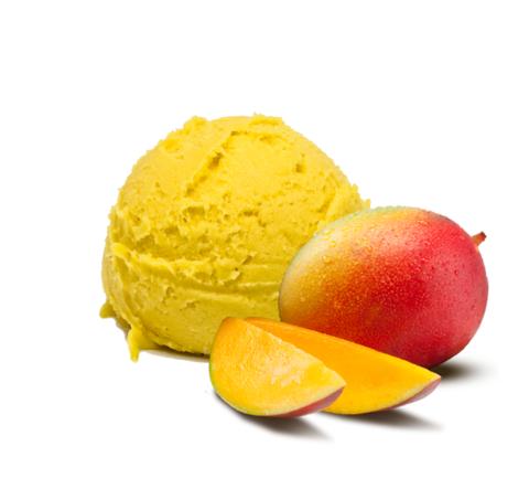 Мороженое манго сорбет (жир. 0%) Престиж 1,625кг (2,5л)