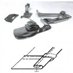 Фото: Окантователь для подгиба края ткани в 3 сложения  для тяжелых материалов KHF53 1/4 (6,4мм)