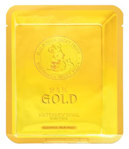 Elizavecca 24k Gold Water Dew Snail Mask маска с золотом и улиткой